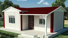 40 m² tek katlI prefabrİk ev